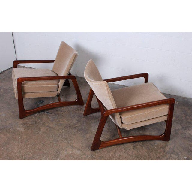 1960s Pair of Lounge Chairs by Adrian Pearsall For Sale - Image 5 of 11