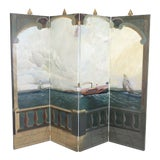 Image of Maitland Smith Large 4 Panel Nautical Room Divider For Sale