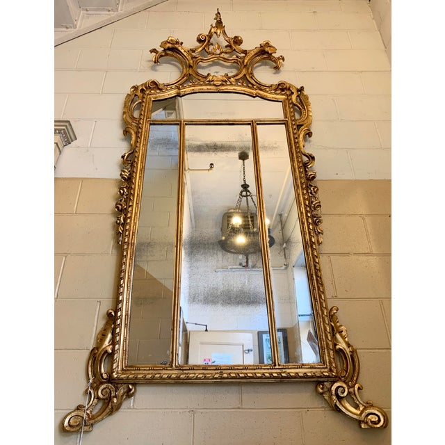19th Century Louis XIV Style Gilt Wood and Gesso Mirror For Sale - Image 10 of 13