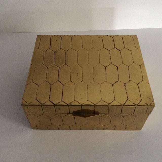 Honeycomb Pattern Brass Box - Image 2 of 6