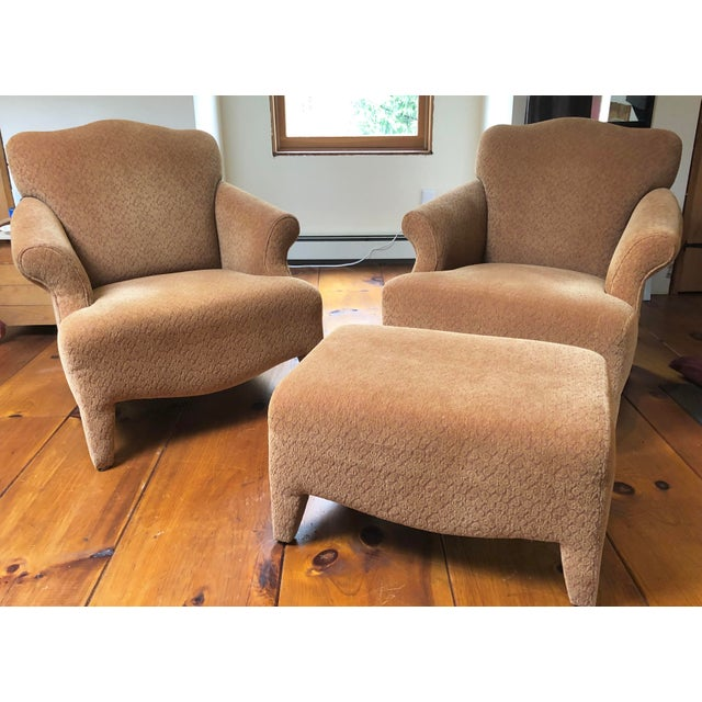 1990s Vintage John Hutton Style Club Chairs Pair For Sale - Image 13 of 13
