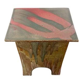 1980s Contemporary Ceramic Table Garden Stool Made by Tariki Studio For Sale
