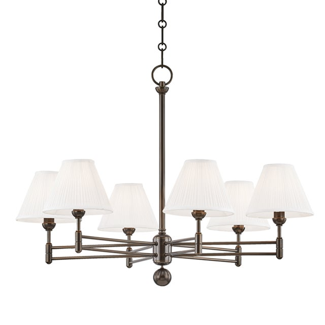 Mid-Century Modern Classic No.1 6 Light Chandelier - Db For Sale - Image 3 of 3