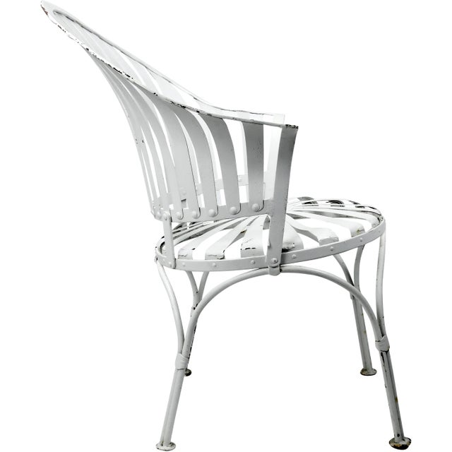 Francois Carre Vintage Fan Back Patio Armchair For Sale In New York - Image 6 of 11