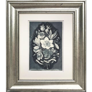 Floral Bouquet Etching by Lawrence Josset For Sale