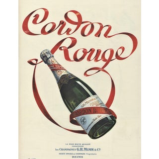 Pair-Matted Vintage French Champagne Prints For Sale