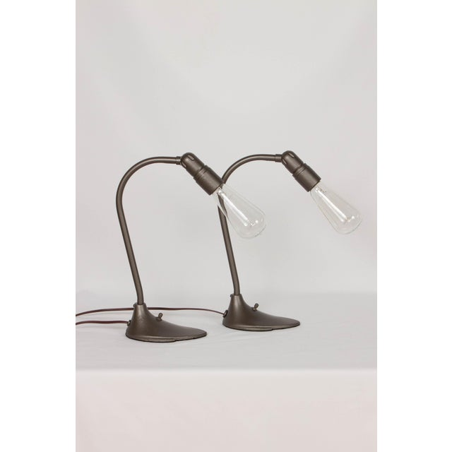 Early 20th Century Machine Age Minimalist Desk Lamps - a Pair For Sale - Image 5 of 5