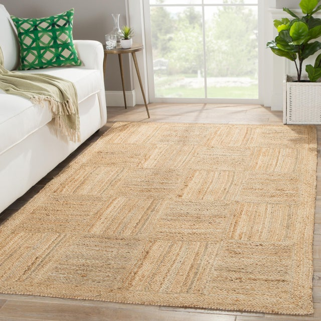 2010s Jaipur Living Aaron Natural Geometric Tan Area Rug - 8' X 10' For Sale - Image 5 of 6