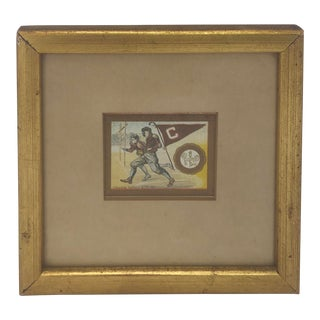 Gold Framed Colgate Rugby Murad T51 College Series Card For Sale