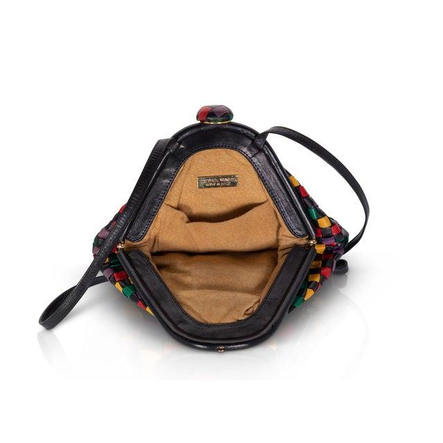 Vintage Bottega Veneta Intrecciato Harlequin Shoulder Bag For Sale In Miami - Image 6 of 8