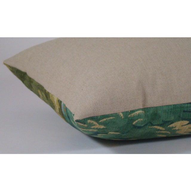 Verdure Print Linen Large Lumbar Pillow Cover For Sale - Image 9 of 11