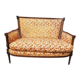 Antique Neoclassical Style Settee For Sale