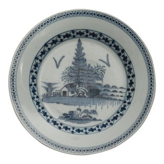 18th-C Delft Chinoiserie Charger