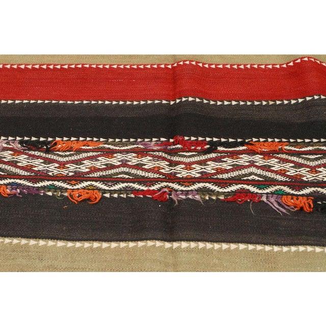 Cotton Vintage Moroccan Tribal Kilim Rug North Africa For Sale - Image 7 of 10