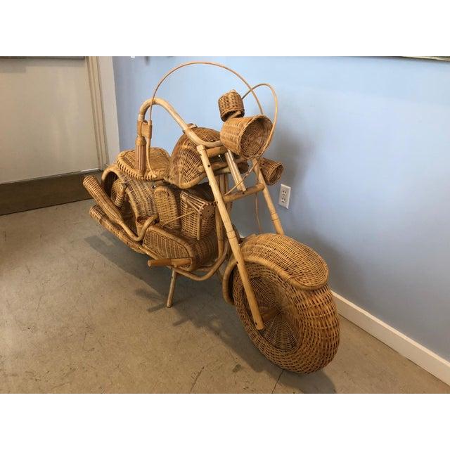 Vintage Wicker Motorcycle - Image 4 of 8
