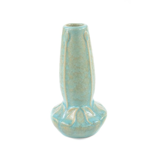 Van Briggle Rare Art Nouveau Turquoise Vase For Sale In Los Angeles - Image 6 of 7
