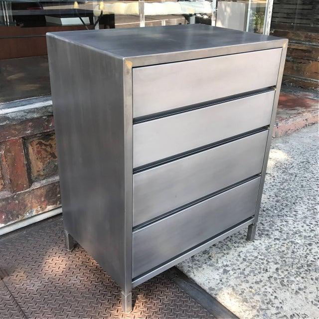 Industrial Machine Age Streamlined Brushed Steel Dresser by Superior Sleeprite For Sale - Image 3 of 10