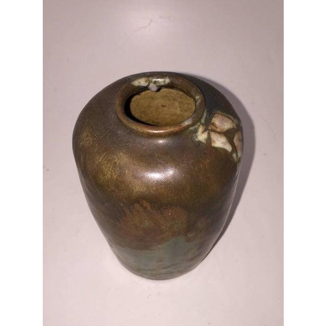 Art Nouveau 1900 Georges Hoentschel Brown Stoneware Vase For Sale - Image 3 of 6