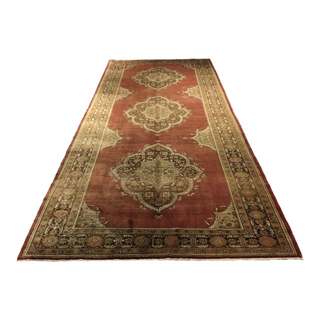 "Vintage Sivas Turkish Rug - 5'4""x14'5"" - Image 1 of 8"