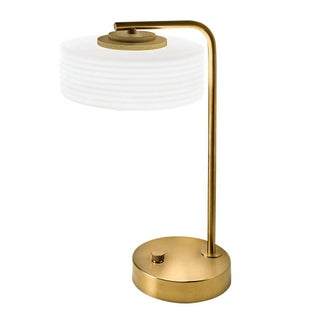 Capri Brushed Brass Table Lamp For Sale