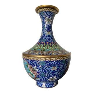 Early 20th Century Vintage Cloisonne Enamel Vase For Sale