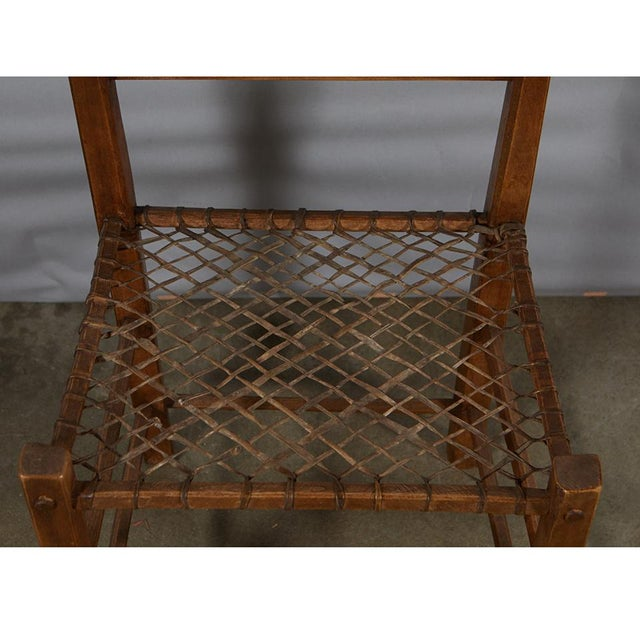 Rustic Pair of Camp Chairs For Sale - Image 3 of 8