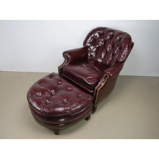 1970s Hancock & Moore Oxblood Leather Richmond Chair and Ottoman Preview