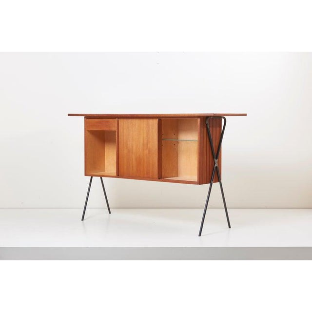 House Bar and Four Bar Stools by Prof. Herta-Maria Witzemann for Erwin Behr For Sale - Image 11 of 13
