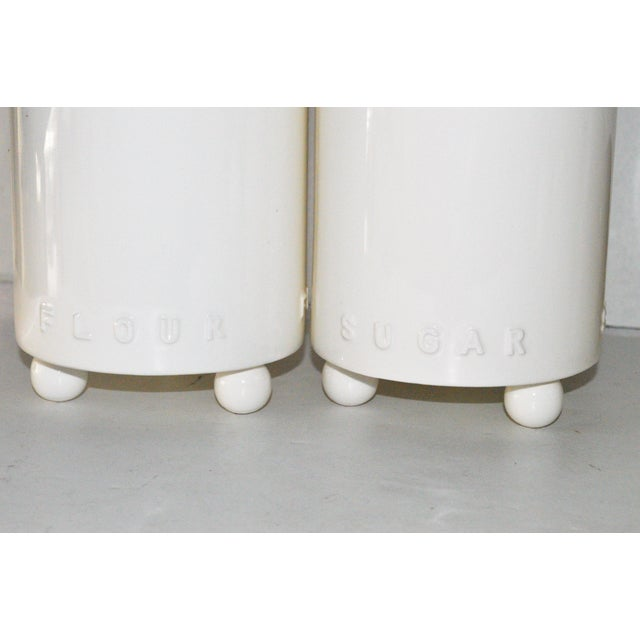 Swid Powell Tigerman McCurry Ceramic Canisters - Set of 4 - Image 6 of 9