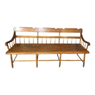 Antique American Maple Bench For Sale
