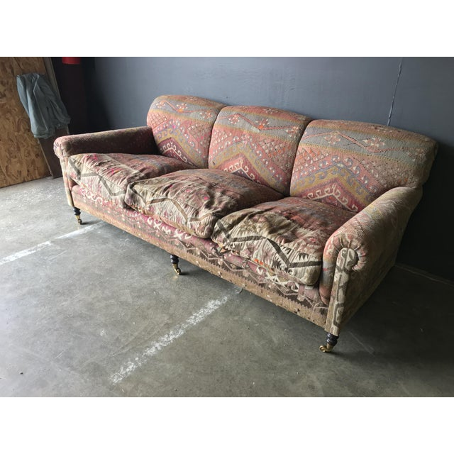 George Smith George Smith Roll Arm Kilim Sofa For Sale - Image 4 of 8