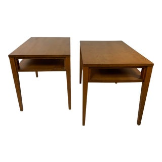 Russel Wright for Conant Ball Mid-Century End Tables - a Pair For Sale