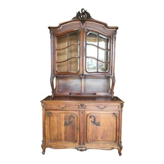 19th Century French Traditional Walnut Buffet For Sale