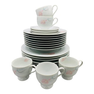 Mikasa Fine China Serenade From the 1980's - 24 Pieces For Sale