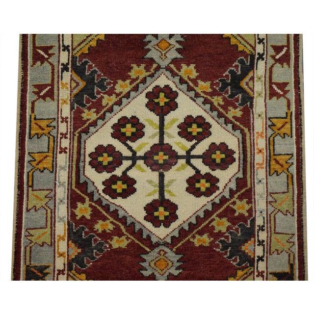 Tribal Vintage Turkish Oushak Rug - 2′9″ × 4′10″ For Sale - Image 3 of 4