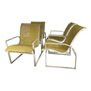 Mid Century Russell Woodard Floating Outdoor Chairs - Set of 4 For Sale