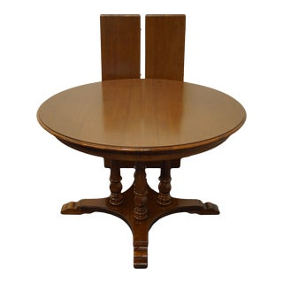 Tell City Maple Colonial Pedestal Dining Table 8152 For Sale