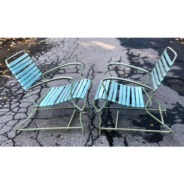 Mid-Century Modern Mid Century Modern Patio Furniture Set Lounge & Chairs For Sale - Image 3 of 13