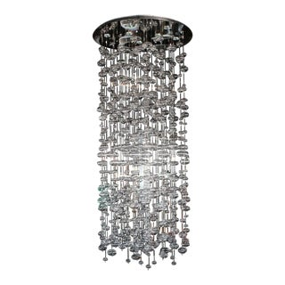 Spectacular Light Fixture Chandelier Handblown Glass Ball Prizms Rain Drop For Sale