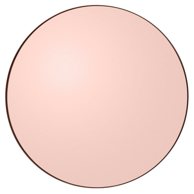Metal Aytm Small Rose Circum Mirror For Sale - Image 7 of 7