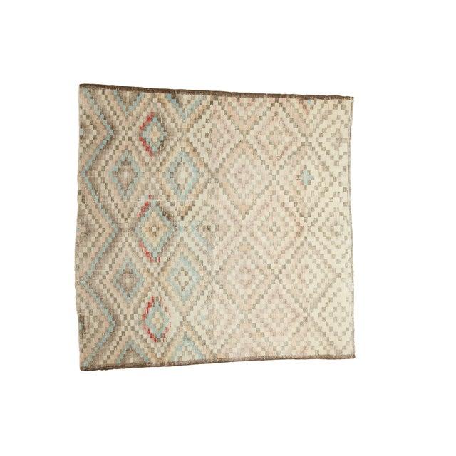 "Vintage Oushak Distressed Square Rug - 5'4"" X 5'5"" - Image 1 of 7"