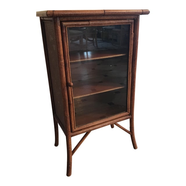 Wicker and Bamboo Maitland Smith Cabinet - Image 1 of 9