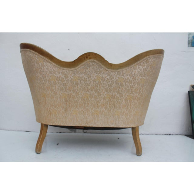 French Antique Carved Loveseat - Image 5 of 11