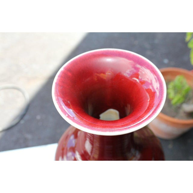 Asian Chinese Oxblood Vase For Sale - Image 3 of 8