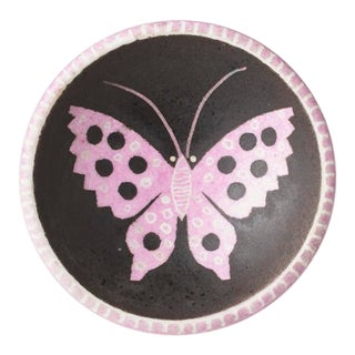 1940s Waylande Gregory Butterfly Dish For Sale