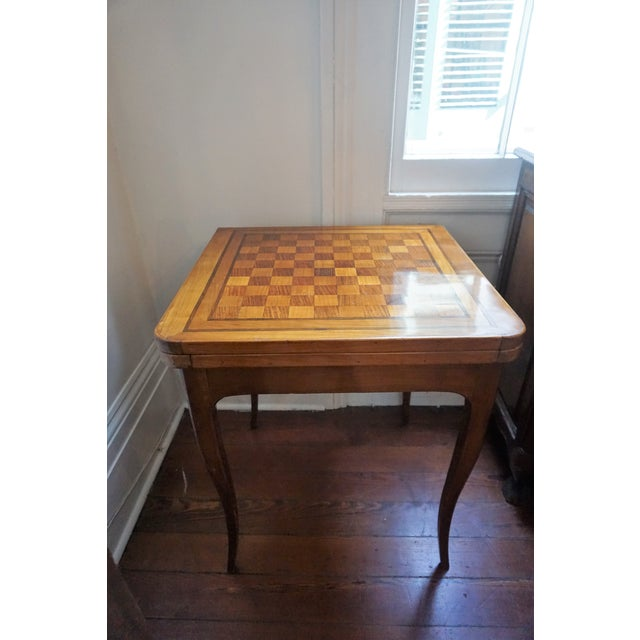 19th Century French Walnut Game Table For Sale - Image 9 of 9