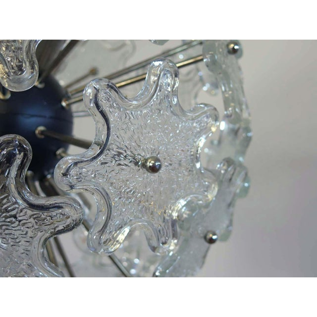 Italian Last Call 1970s Murano White Floral Sputnik Chandelier For Sale - Image 3 of 4