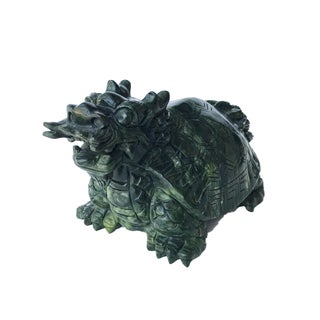 """Asian Mythological Dragon Turtle Sculpture 5.25"""" H by 9"""" W Preview"""