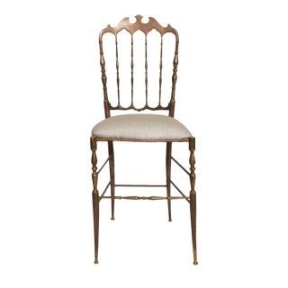 1950s Vintage Chiavari Bronze Chair For Sale