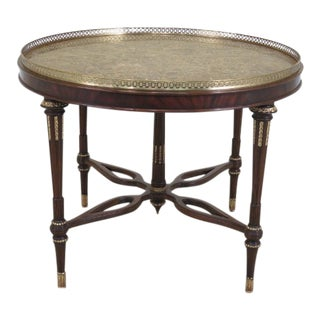 Maitland Smith Round Marble Top Center Table For Sale